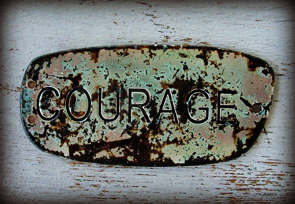 Metal Courage Pendant Charm